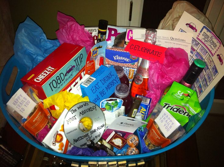 Road trip Gift Basket