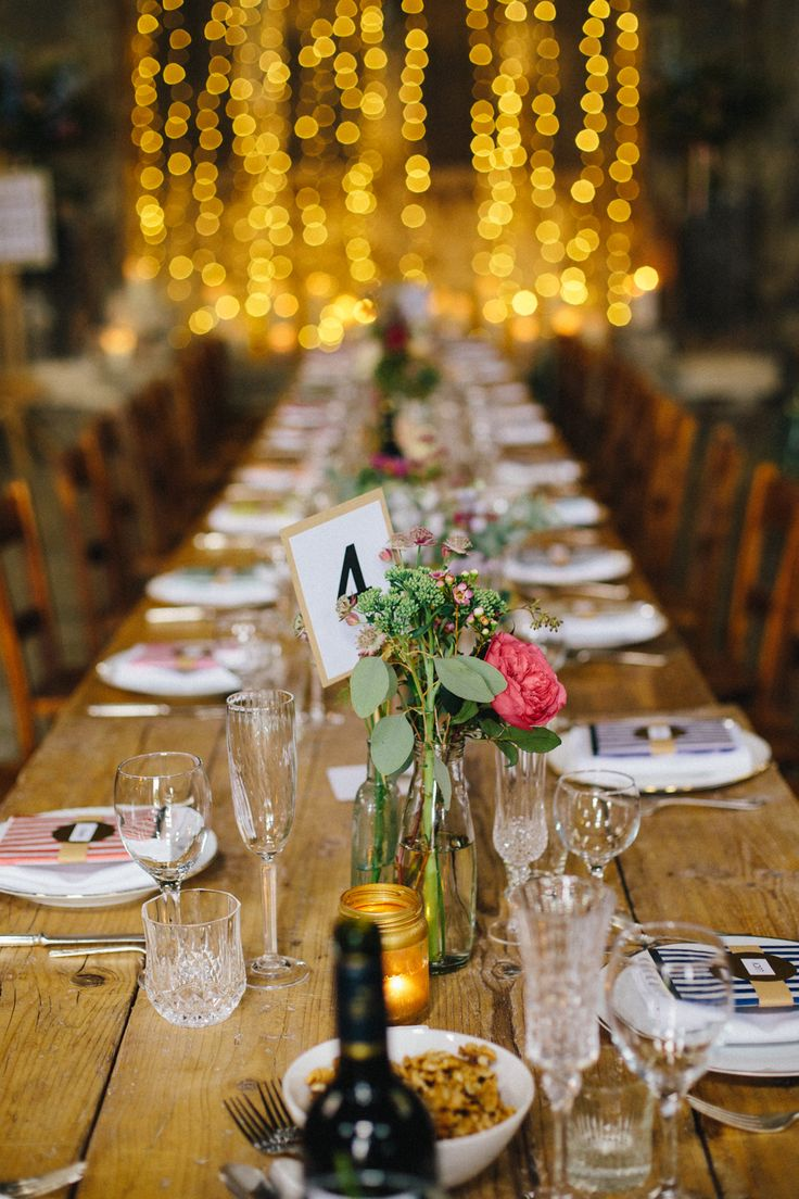 Rustic Wedding Breakfast Decor