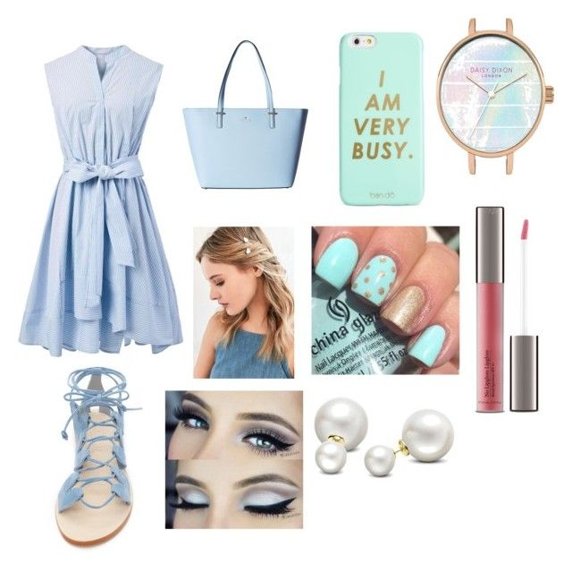 """""""blue"""" by cocoblair25 on Polyvore featuring Chicwish, Cornetti, Kate Spade, ban.do, Urban Outfitters, Perricone MD and Allurez"""