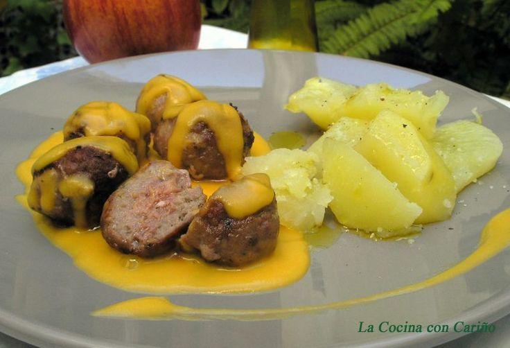 Albóndigas en salsa de zanahoria y curry, Receta Petitchef