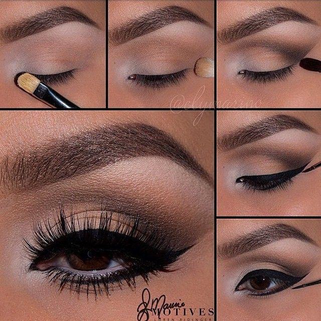 Sand and taupe eye makeup #makeup #tutorial #stepbystep