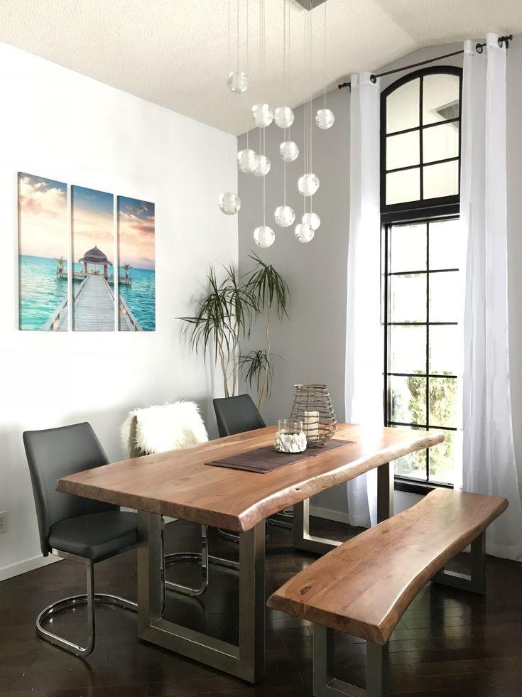 Beautiful live edge modern dinning table