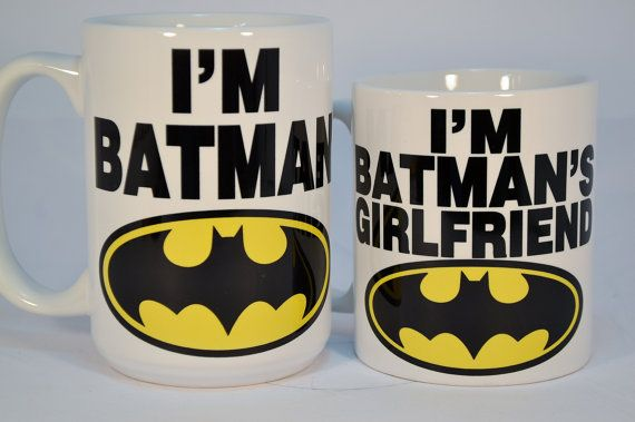 I'm batman and i'm batman's girlfriendfunny by TheMugLoft on Etsy