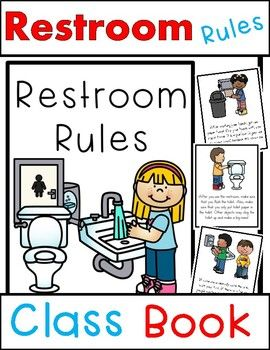 This restroom rules class book is perfect for teaching your new kiddos proper bathroom rules at the beginning of the year. This book can be printed to create a classroom book, or projected using your classroom projector. Add this to your first day of school routine!