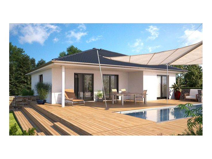 Top star 107 einfamilienhaus von hanlo haus for Bungalow haus modern