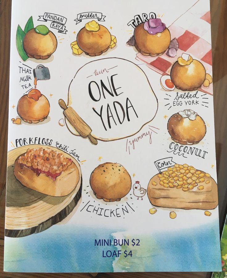 One Yada (Richmond): Buns and loaf menu.