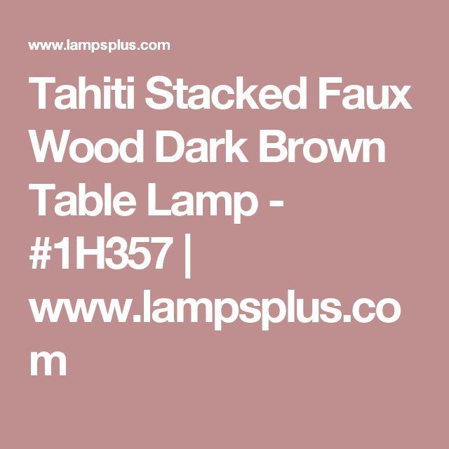 Tahiti Stacked Faux Wood Dark Brown Table Lamp - #1H357 | www.lampsplus.com