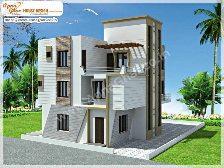 5 bedroom modern triplex 3 floor house design area for Pre designed homes plans