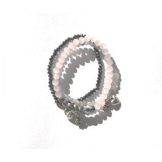 Armbänder rosa/grau
