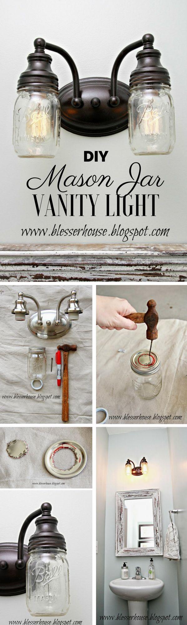 Check out the tutorial: #DIY Mason Jar Vanity Light @istandarddesign