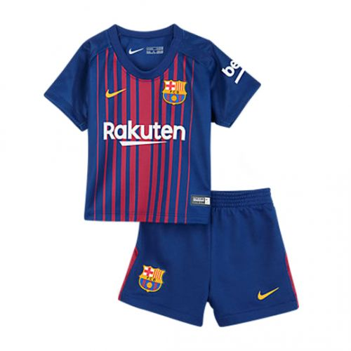 17-18 Barcelona Home Children's Jersey Kit(Shirt+Short) #barcelona #barca #messi #kids #jersey #shirt #jerseymate #cybermonday #blackfriday #nike #laliga #football #soccer