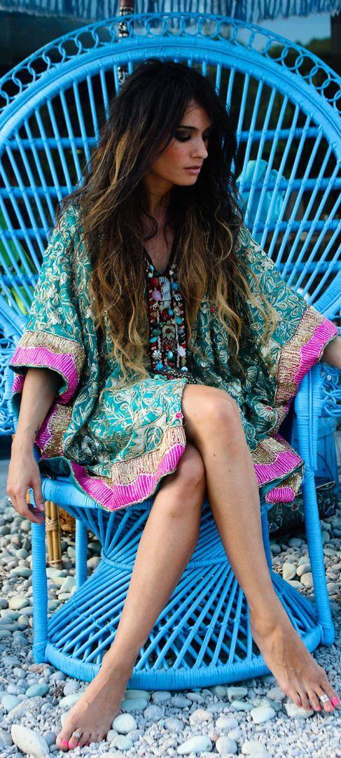 Vestido boho #hippiechic #boho                                                                                                                                                                                 Más
