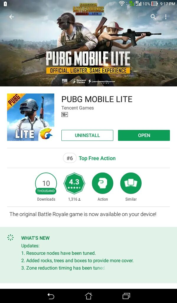 NEWS] PUBG Mobile Lite has been released in the Google Play