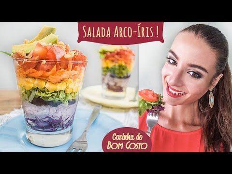 Salada Arco-Íris | Cozinha do Bom Gosto - YouTube