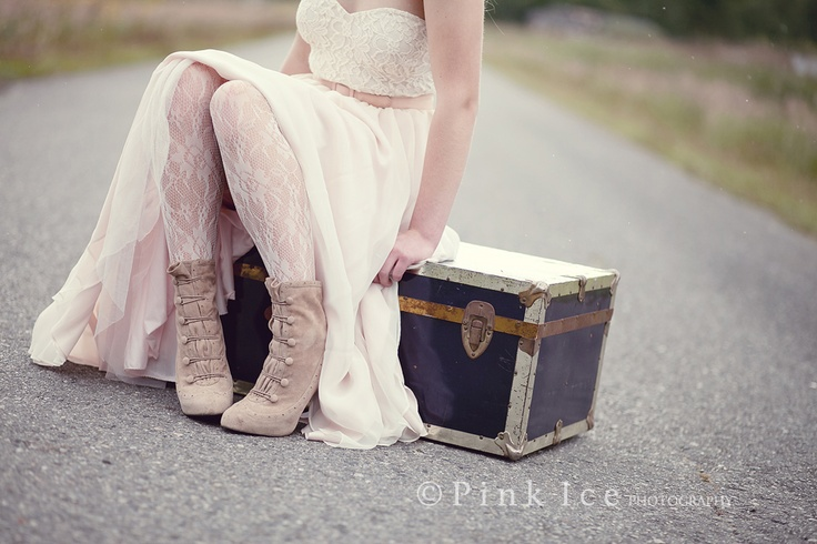 Thick lace tights, vintage with a awesome chest! Beautiful grad / senior Pink Ice Photography | Powell River Photographer Jennifer Jacques