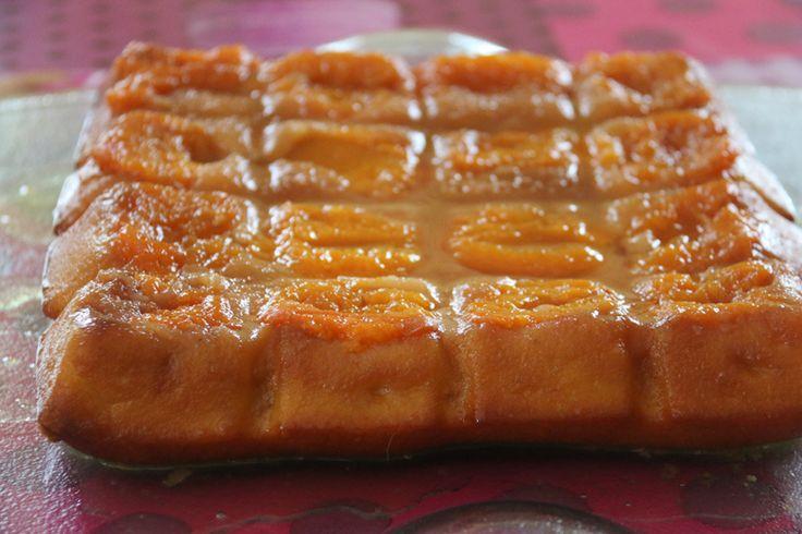 Moelleux aux abricots (moule tablette)