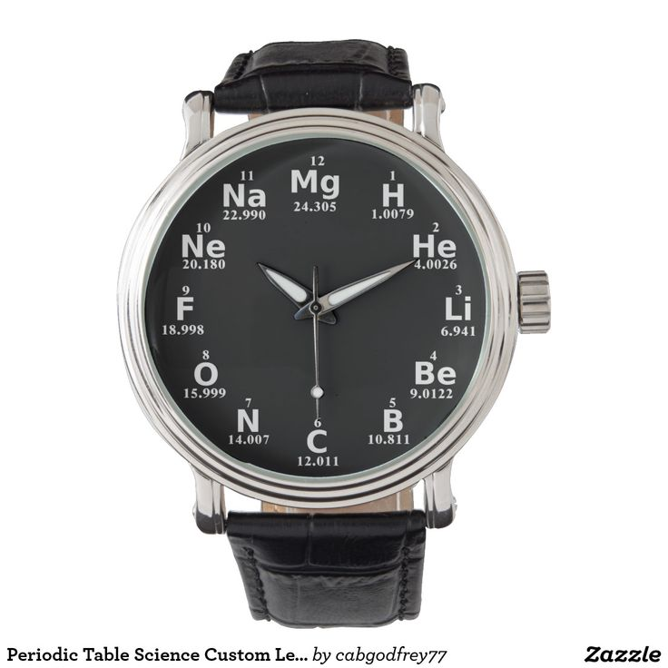 Periodic Table Science Custom Leather Men's Watch