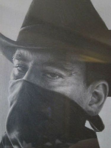 Realistic Pencil Drawing of Cowboy Figure by Seamus Conley