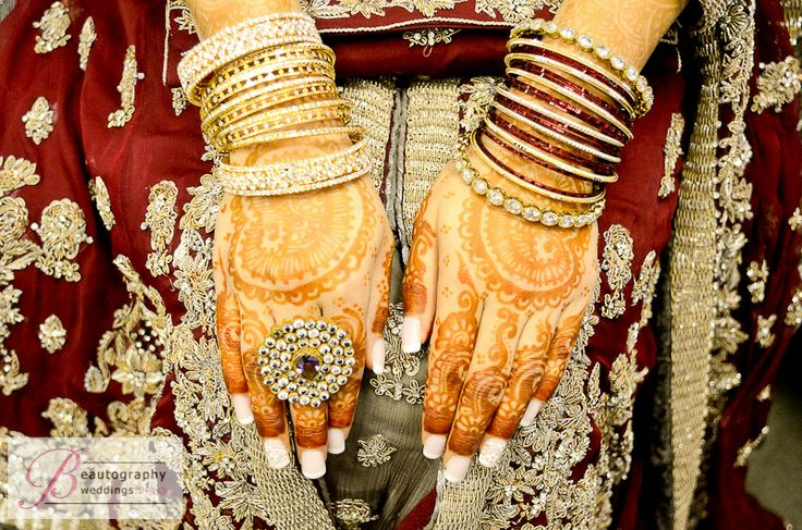 The art of Mehdni on a South Asian bride.