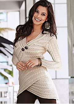 Women's sweaters - Venus. Deep knit textures, but in your colors. Wraps that don't add to your waist.