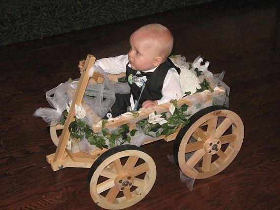 Small Flower Girl Wedding Wagon Unfinished by Miniwagons on Etsy, $143.00