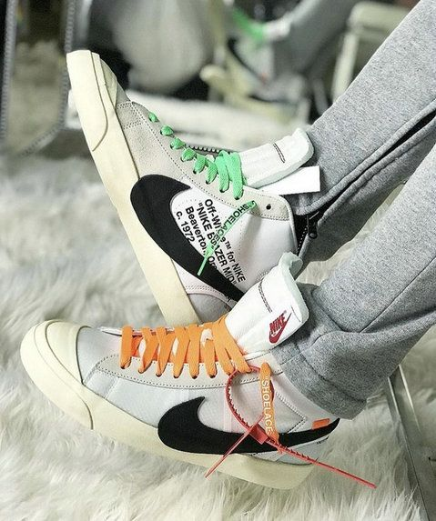 1d59585293739 Cheapest And Latest Spring Summer 2018 Really Cheap Authentic Nike X OFF- White Blazer Mid 24 OW White Black Green Orange