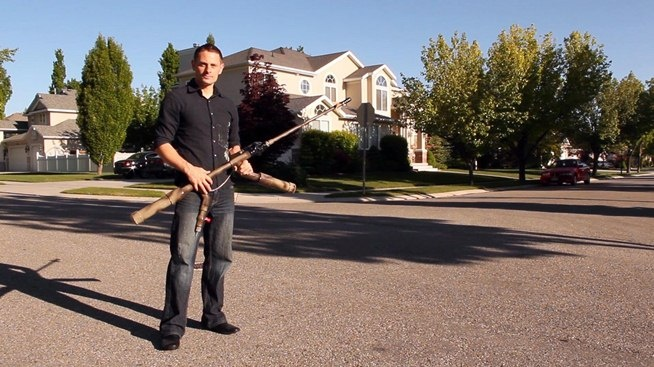 How to Make a Powerful Handheld Rocket Launcher from PVC and Sprinkler Parts //
