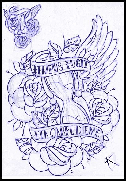 hourglass_and_roses_tattoo_design_by_thirteen7s-d6xkxhi.jpg 411×588 pixels