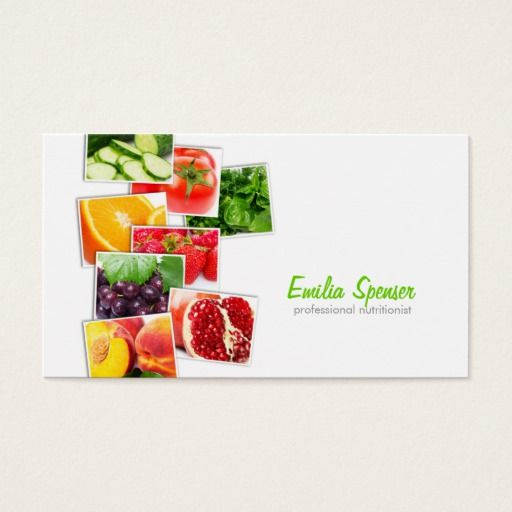 Best Nutritionist Business Cards Images On