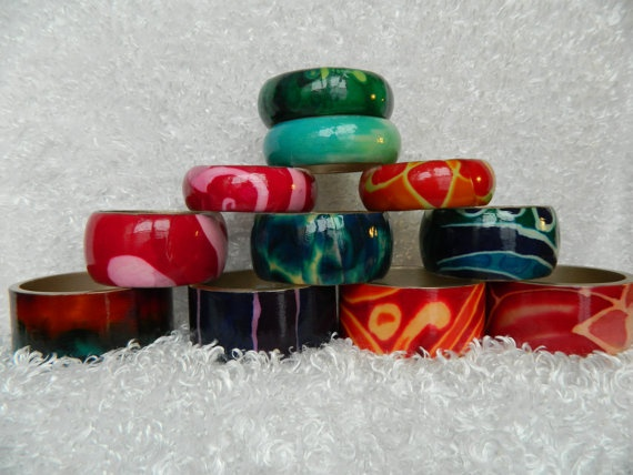 One of a kind Decoupaged Bangle B8 by PaintBucket on Etsy, $25.00