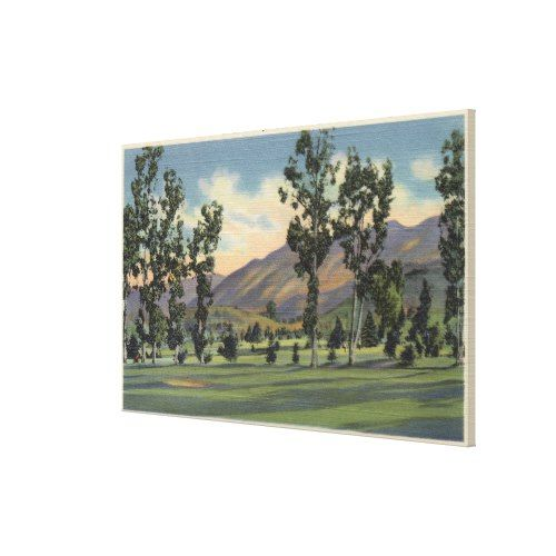 Municipal Golf Course in Griffith Park Canvas Print