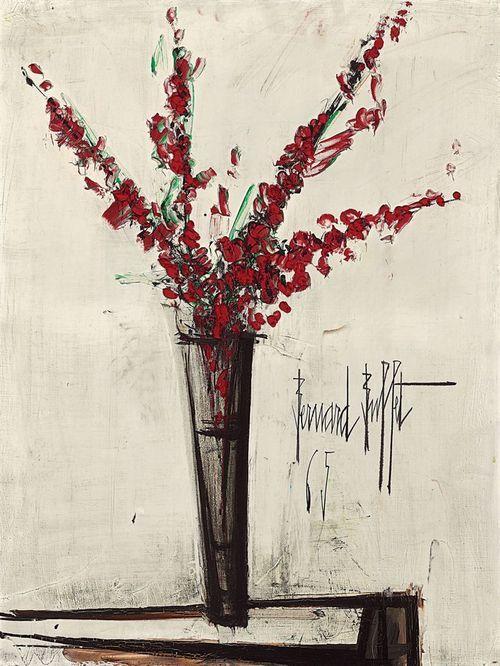 Vase of Flowers, Bernard Buffet. French (1928 - 1999)