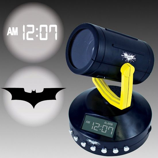 Batman Signal Projection Clock! You've gotto admit, it's pretty awesome! You know you want it!
