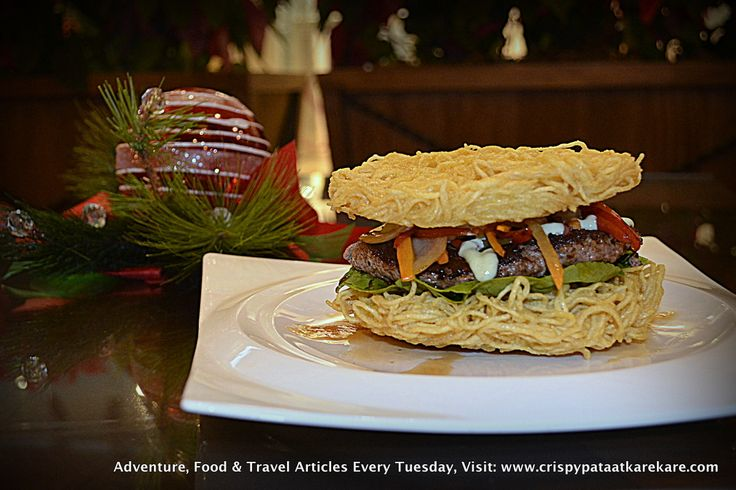 "Cafe Maxims at Resorts World Manila Imagine this: Juicy, tasty, mouth-watering angus burger patty in between two crunchy ramen ""buns."" It was difficult for me to imagine, so I tried eating it instead. That's one of the new things you too can experience at Cafe Maxims inside Resorts World Manila. Read more about Maxims here: http://www.crispypataatkarekare.com/2014/01/16/cafe-maxims-resorts-world-manila/"