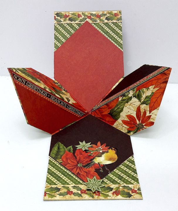 Folded Squared Card By Einat Kessler featuring Winter Wonderland by Graphic 45!