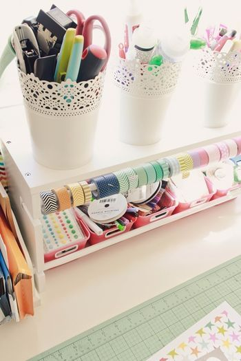 Craft room storage and organization. #scrapbooking #organization