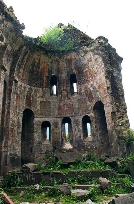 Cathedral in ruins.