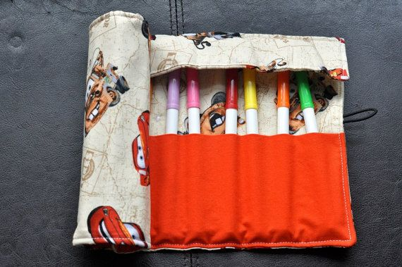 Cars Felt Cozy/Roll Including Crayola by SpoonerSistersDesign, $20.00