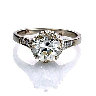 Edwardian engagement ring. A giant rock we could never afford....but still! Pinterest's