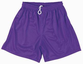Women's Purple Shorts, Purple Mesh