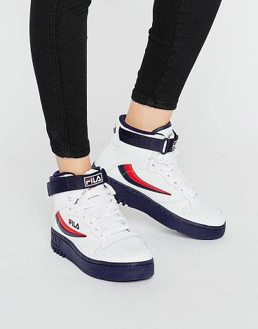 Fx-100 High Sneakers by Fila. Sneakers by Fila, Lace-up design, Adhesive strap fastening, Branded tongue and cuff, Padded for comfort, Hi-top desig...