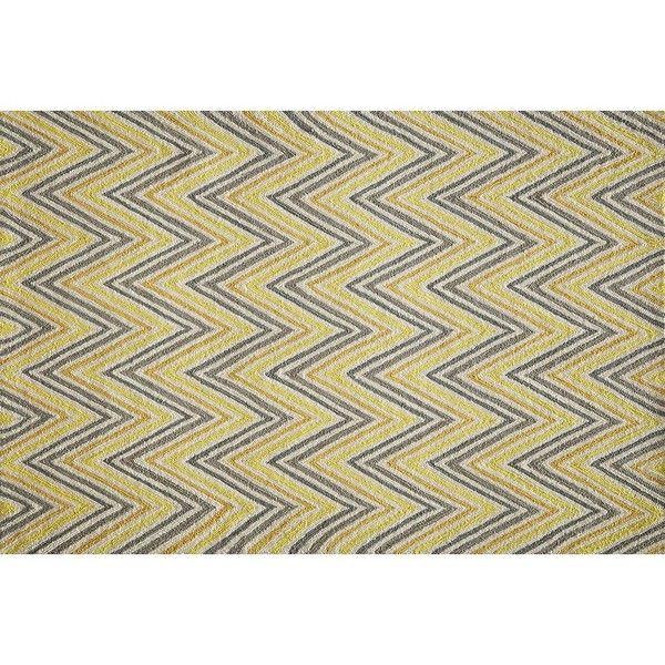 Momeni Geo Chevron Rug ($52) ❤ liked on Polyvore featuring home, rugs, brt yellow, momeni, zig zag rug, yellow chevron area rug, yellow chevron rug and momeni rugs