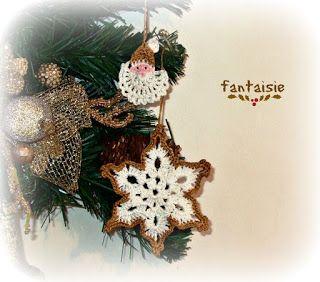 Fantaisie: Χριστουγεννιάτικα πλεκτά στολίδια