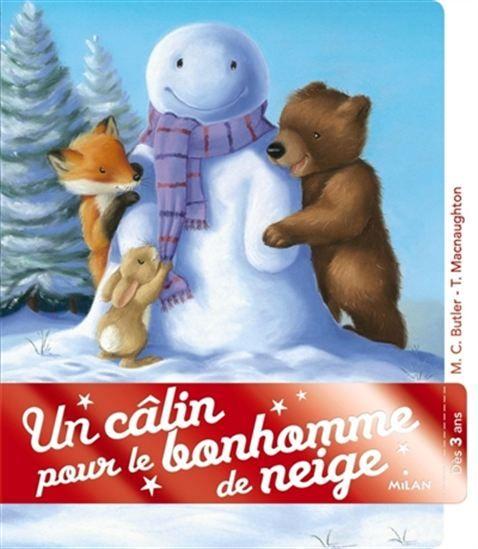 Petit Ours, Peluche, Filou ont fini leur bonhomme de neige et s'éloignent pour jouer à autre chose. Mais, quand ils reviennent, ils trouvent que le bonhomme a l'air triste et décident de le réchauffer.