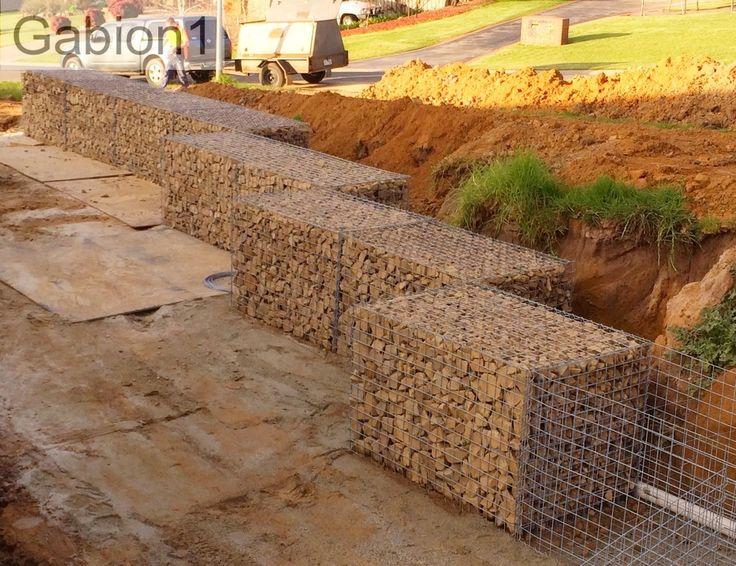 Offset gabion cages http gabion ideas for Gabion landscaping