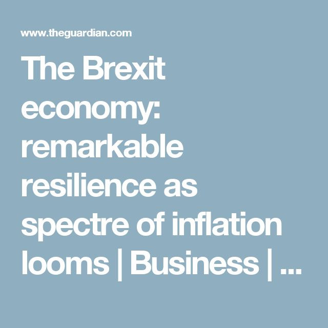 The Brexit economy: remarkable resilience as spectre of inflation looms | Business | The Guardian