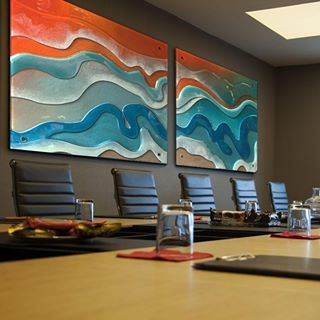 Glass art for the conference room. #glass #glassart #voodooglass #goldcoast #business #conference #art #office #design #interiors