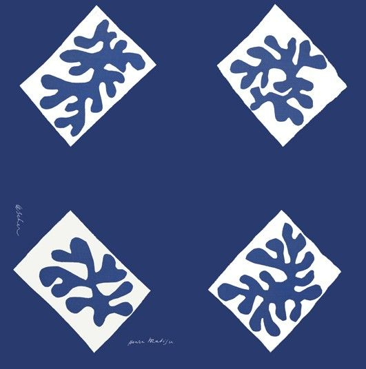 Henri Matisse 'Echarpe No. 1', silk square design for Zika Ascher,1947 Artists' textiles: a masterpiece in every home - Telegraph