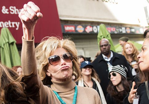Jane Fonda has donated $100,000 to a political group solely aimed at defeating California GOP Rep. Darrell Issa, one of the most vulnerable Republicans.