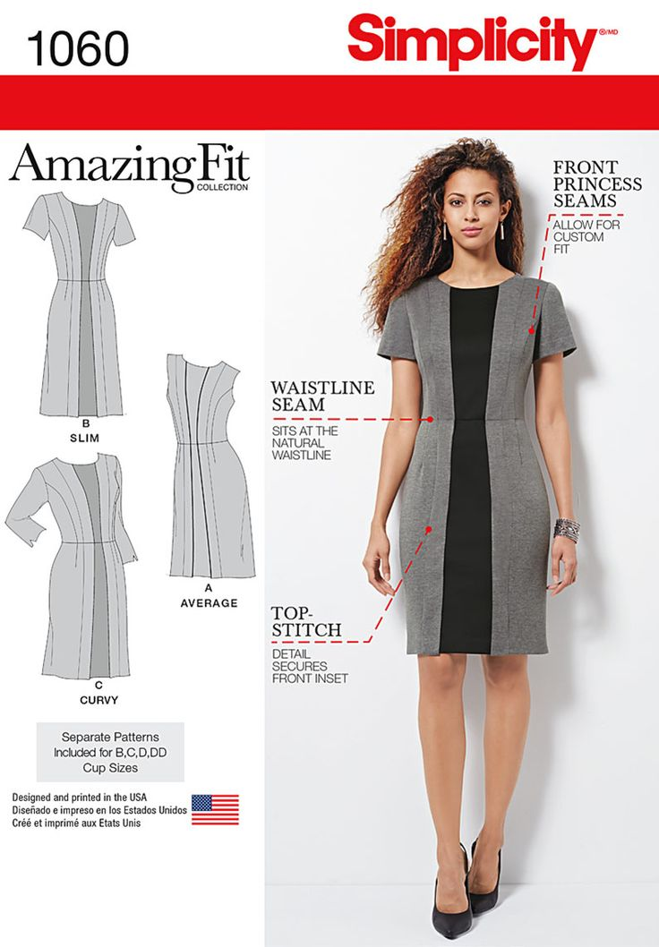 Pattern Reviews> Simplicity> 1060 (Misses' & Plus Size Amazing Fit Dress)